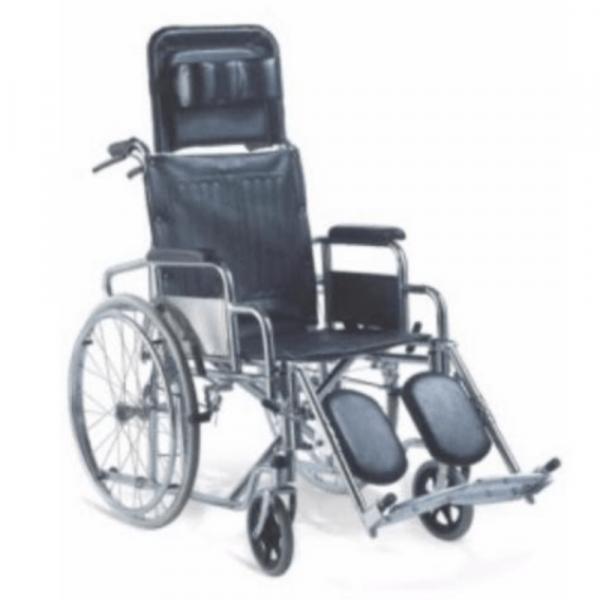 Recliner Steel (Chrome) Wheelchair